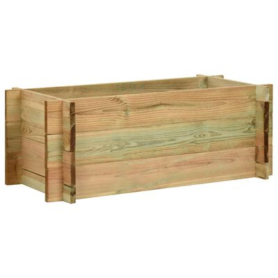 vidaXL Vyvýšený zeleninový záhon impregnovaná borovice 80 cm