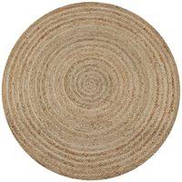 vidaXL Kusový koberec ze splétané juty 90 cm kulatý