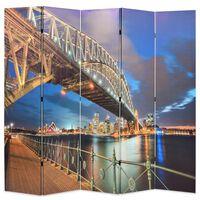 vidaXL Skládací paraván 200 x 170 cm Přístavní most v Sydney