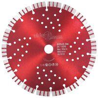 vidaXL Diamantový řezací kotouč turbo s otvory ocel 230 mm