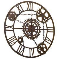 321456 vidaXL Wall Clock Brown 80 cm Metal