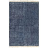 vidaXL Koberec Kilim bavlněný 200 x 290 cm modrý