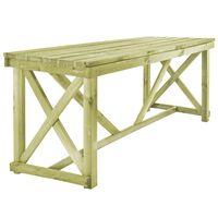 vidaXL Zahradní stůl 160 x 79 x 75 cm dřevo