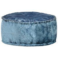 vidaXL Kulatý taburet samet 40 x 20 cm modrý
