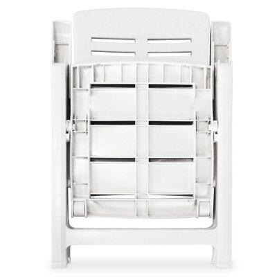 vidaXL 3dílný bistro set plastový bílý