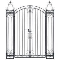 vidaXL Okrasná zahradní brána tepané železo 122 x 20,5 x 160 cm