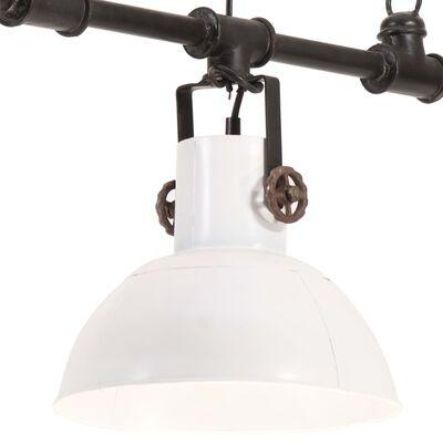 vidaXL Industriální závěsný lustr železo a masivní mangovník bílý E27