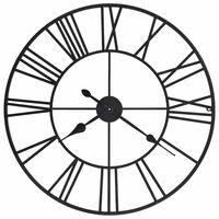 vidaXL Vintage nástěnné hodiny se strojkem Quartz kovové 80 cm XXL