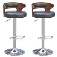 vidaXL Barové židle 2 ks rám z ohýbaného dřeva umělá kůže černé