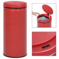 vidaXL Odpadkový koš s automatickým senzorem 80l uhlíková ocel červený