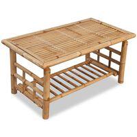 vidaXL Konferenční stolek bambusový 90x50x45 cm