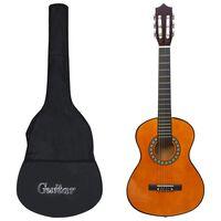 vidaXL 8dílný set klasická kytara pro začátečníky a děti 1/2 34''