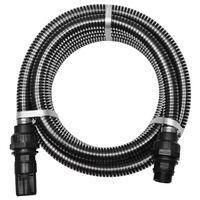 vidaXL Sací hadice s konektory 7 m 22 mm černá