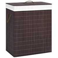 vidaXL Bamboo Laundry Basket Brown 100 L