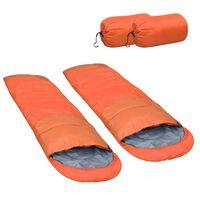 vidaXL Lehké spací pytle 2 ks oranžové 15 °C 850 g
