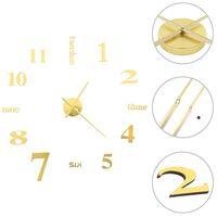 vidaXL 3D Nástěnné hodiny s moderním designem 100 cm XXL zlaté
