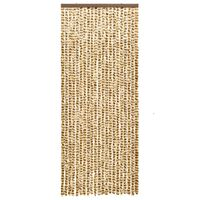 vidaXL Insect Curtain Beige and Brown 56x185 cm Chenille