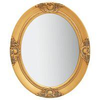 vidaXL Nástěnné zrcadlo barokní styl 50 x 60 cm zlaté
