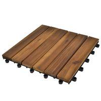 20 ks akáciové terasové dlaždice 30 x 30 cm vertikální vzor