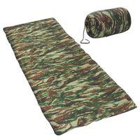 vidaXL Lehký dekový spací pytel maskáčový 1100 g 10 °C