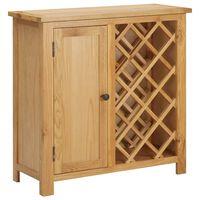 vidaXL Stojan na víno na 11 lahví 80 x 32 x 80 cm masivní dubové dřevo