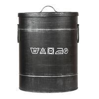 LABEL51 Box na prádlo 32 x 32 x 43 cm M černý s patinou