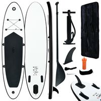 vidaXL Nafukovací SUP paddleboard černo-bílý