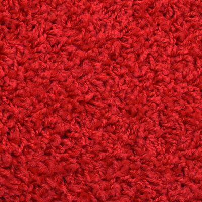 vidaXL 15 ks Nášlapy na schody červené 65 x 25 cm, Red