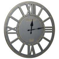 321469 vidaXL Wall Clock Grey 60 cm MDF