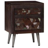 vidaXL Noční stolek masivní recyklované dřevo 40 x 30 x 50 cm