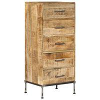 vidaXL Komoda se zásuvkami 45 x 35 x 106 cm masivní mangovníkové dřevo