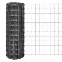 vidaXL Euro plot ocel 10 x 1 m šedý