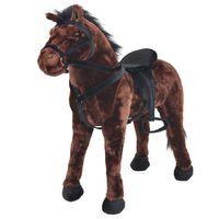 vidaXL Stojící plyšová hračka, kůň, tmavě hnědý, XXL
