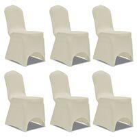 Potahy na židle strečové krémové 6 ks