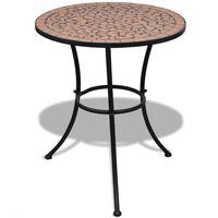 vidaXL Bistro stolek terakota 60 cm mozaika