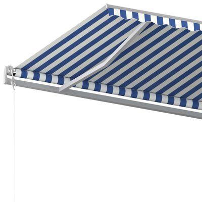 vidaXL Automatická zatahovací markýza 600 x 350 cm modrobílá