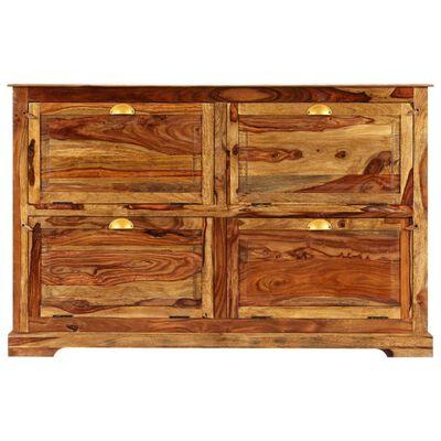 vidaXL Botník 140 x 35 x 90 cm masivní sheeshamové dřevo