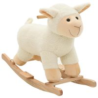 vidaXL Houpací plyšové zvířátko ovečka 78 x 34 x 58 cm bílé