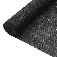 vidaXL Stínící tkanina černá 2 x 50 m HDPE 195 g/m²
