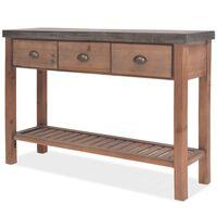 vidaXL Konzolový stolek z masivního jedlového dřeva 122 x 35 x 80 cm