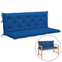 vidaXL Poduška pro závěsné houpací křeslo modrá 150 cm textil