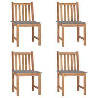 vidaXL Zahradní židle 4 ks s poduškami masivní teak