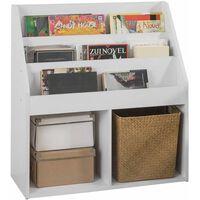 SoBuy KMB01-W Dětský regál na knihy, bílá barva, 73 x 80 x 30 cm