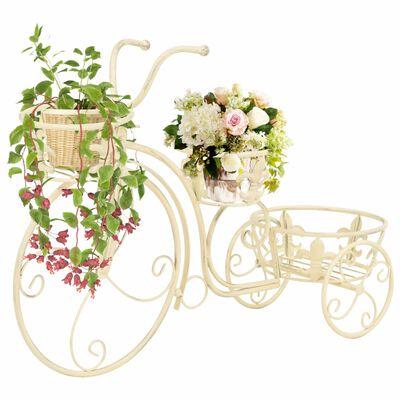 vidaXL Stojan na květiny ve tvaru jízdního kola vintage styl kovový