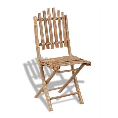 vidaXL Skládací zahradní židle 2 ks bambusové