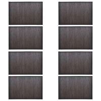 vidaXL Bambusové koupelnové předložky 8 ks 40 x 50 cm tmavě hnědé