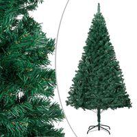 vidaXL Umělý vánoční stromek s hustými větvemi zelený 210 cm PVC