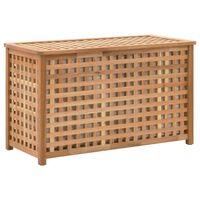 vidaXL Truhla na prádlo 77,5 x 37,5 x 46,5 masivní ořechové dřevo