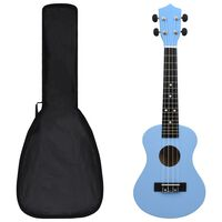 """vidaXL Set soprano ukulele s obalem pro děti blankytně modré 23"""""""