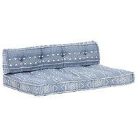 vidaXL Poduška na pohovku z palet indigová textil patchwork